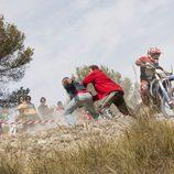 Accidente motociclístico en 'El Don de Alba'