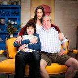 Sandra, Ángel y Paulino, en 'Con el culo al aire'