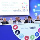 Directivos de Mediaset España presentan los resultados económicos del grupo