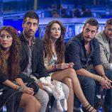 Argi, Igor, Saray, Iván y Adrián en la sala de expulsiones