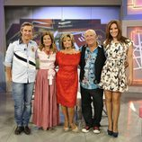 Juan Luis Alonso, Concha Galán, María Teresa Campos, Carlos Ferrando y Chayo Mohedano