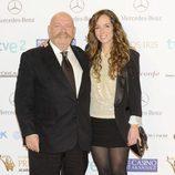 José María Íñigo con su hija Pilar Íñigo en los Premios Iris 2013