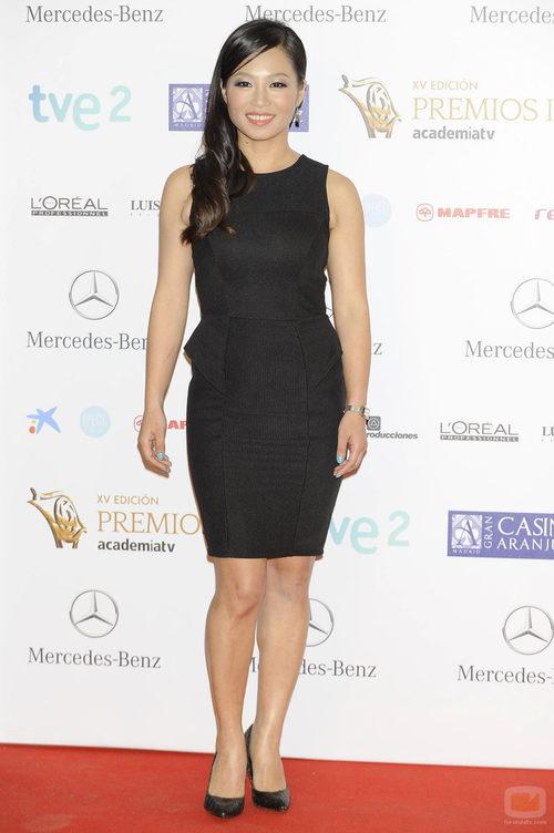 Usun Yoon en la alfombra roja de los Premios Iris 2013