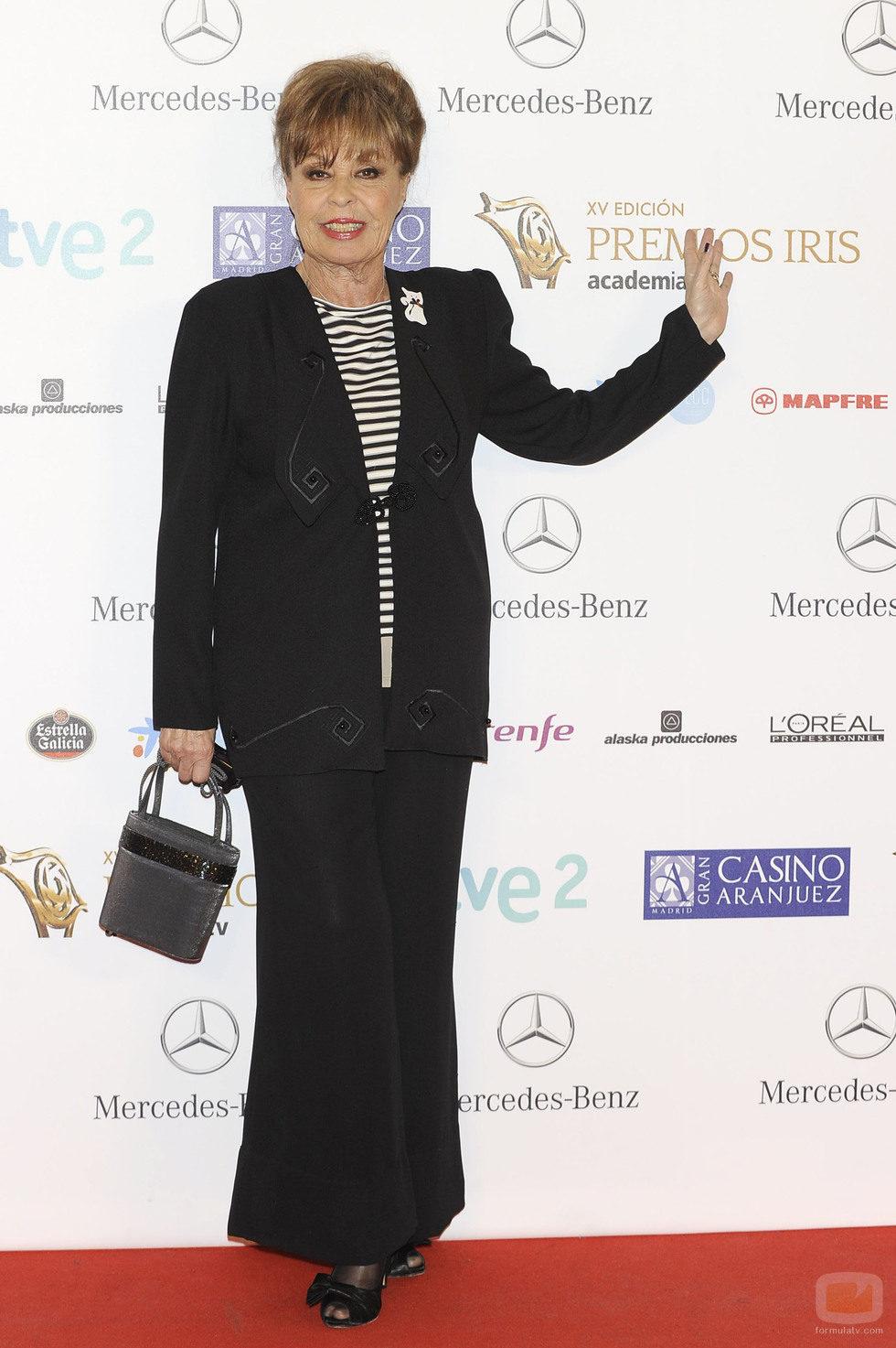 Gemma Cuervo en los Premios Iris 2013