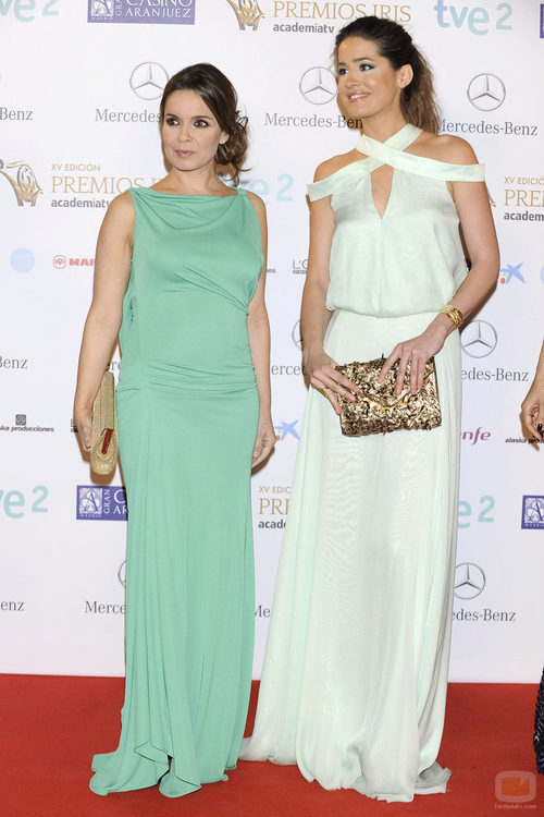 Carme Chaparro e Isabel Jiménez en los Premios Iris 2013