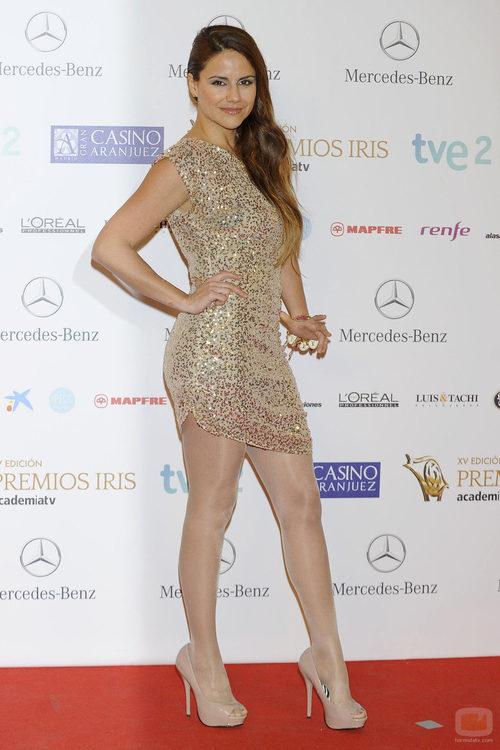 Mónica Hoyos en los Premios Iris 2013