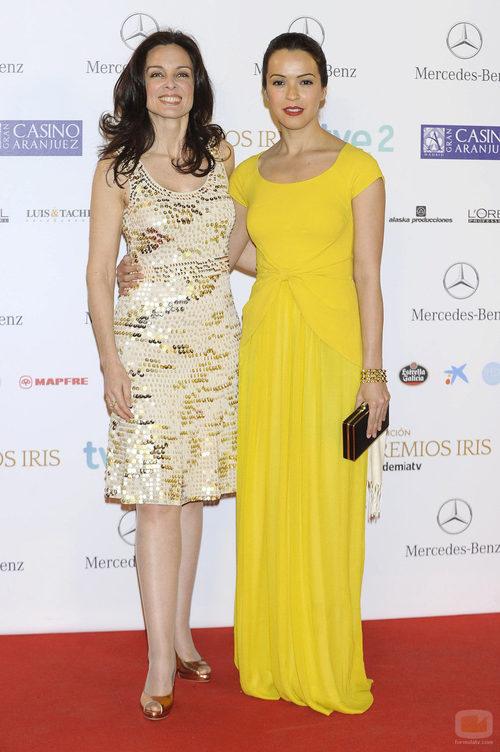 Silvia Marsó y Verónica Sánchez en los Premios Iris 2013