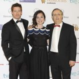 Manu Baqueiro, Nadia de Santiago y José Antonio Sayagués en los Premios Iris 2013