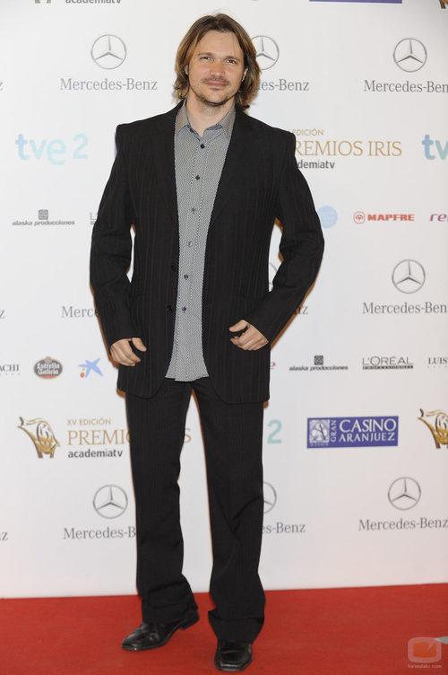 Carlos Castel en los Premios Iris 2013