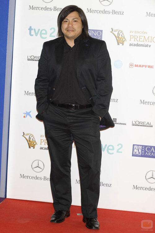 Óscar Reyes en la alfombra roja de los Premios Iris 2013