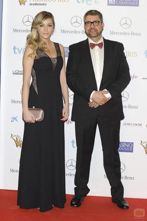 Anna Simon y Florentino Fernández en los Premios Iris 2013