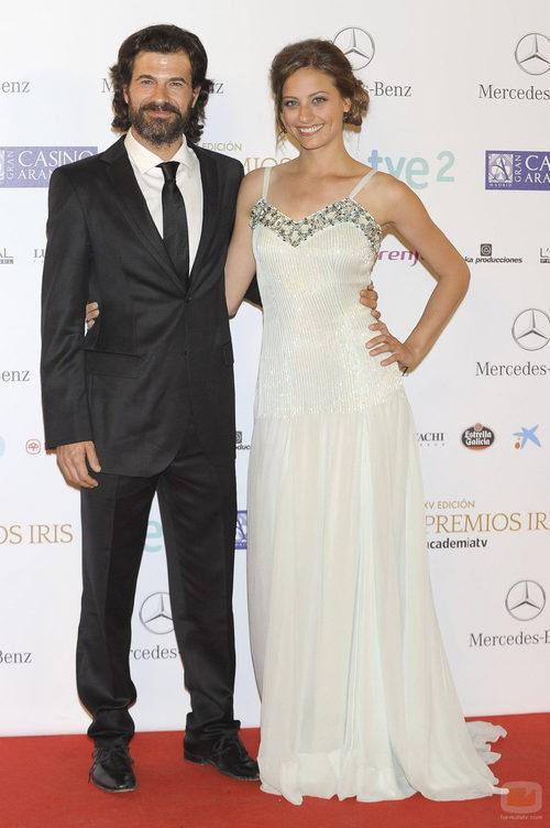 Rodolfo Sancho y Michelle Jenner en los Premios Iris 2013