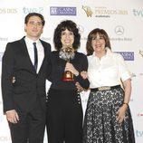 Llorenç González, Adriana Ozores y Concha Velasco en los Premios Iris 2013