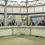Mesa de debate de 'Las mañanas de Cuatro' moderada por Jesús Cintora