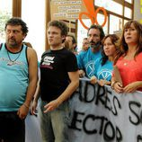 Tino, Javi y Alicia en la manifestación