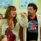 Alicia y Tino durante la reunión de padres