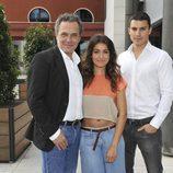 José Coronado, Hiba Abouk y Álex González, protagonistas de 'El Príncipe'