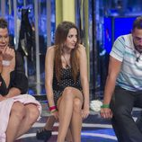 Desirée, Saray e Iván en la sala de expulsiones