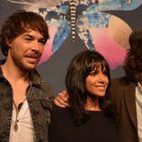 David Feito, Raquel del Rosario y Juan Luis Suárez posan preparados para el Festival de Eurovisión 2013