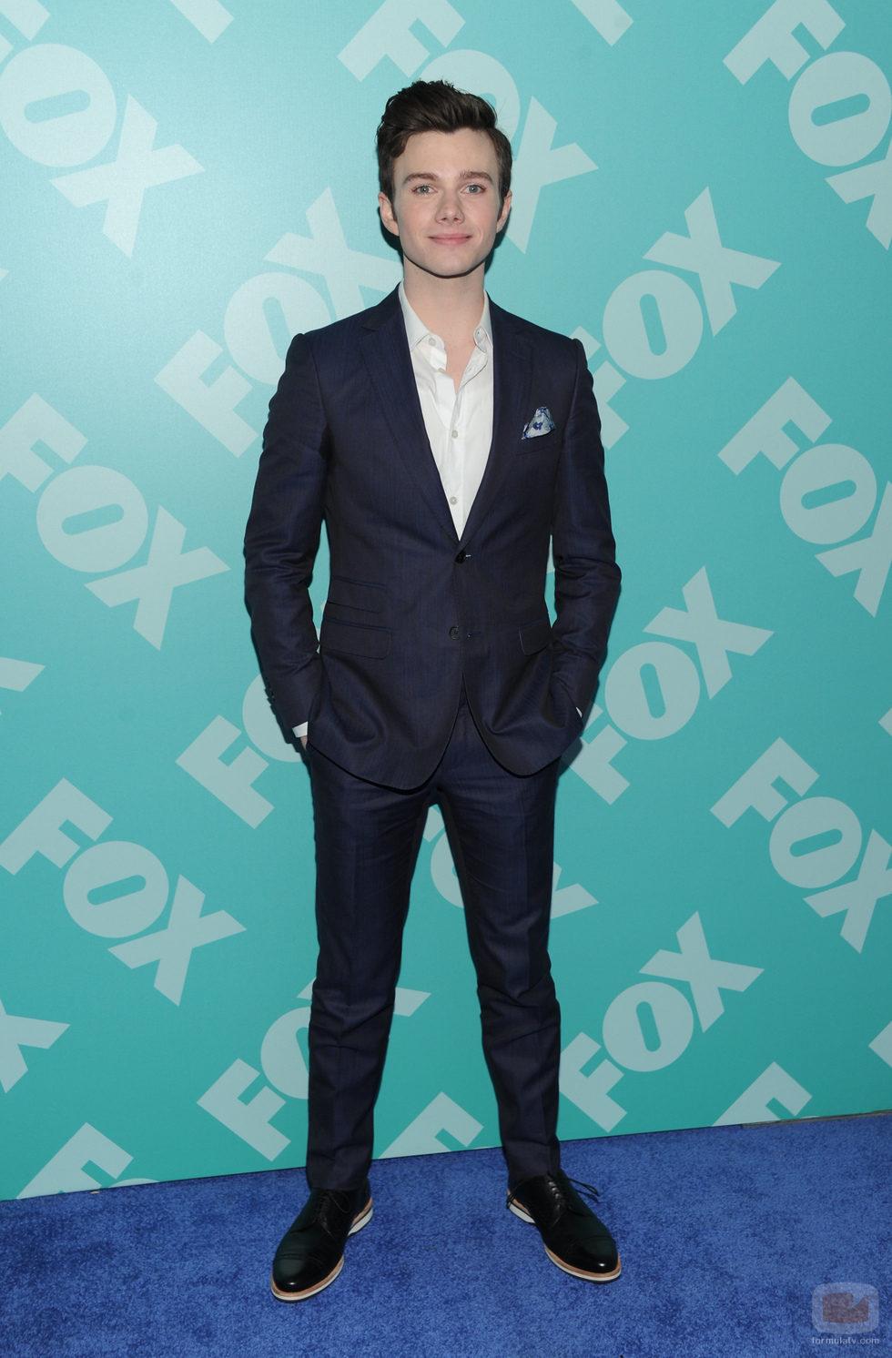 Chris Colfer ('Glee') en los Upfronts 2013 de Fox