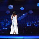 Raquel del Rosario, sobre el escenario del Malmö Arena en su segundo ensayo