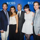 Parte del reparto de 'NCIS' en los Upfronts 2013 de CBS