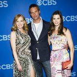 Marg Helgenberger, Josh Holloway y Meghan Ory en los Upfronts 2013 de CBS