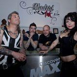 Rubén, Javi, Leo y Rebeka, en la presentación de 'Madrid Ink'