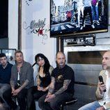 Fernando Jerez y los tatuadores de 'Madrid Ink', en la presentación