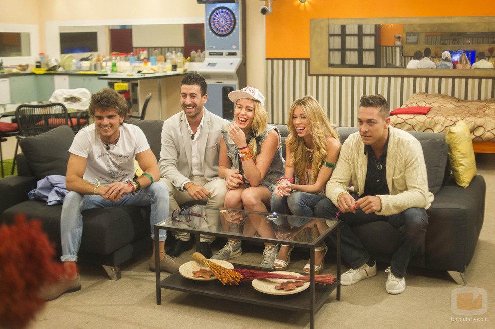 Edoardo, Igor, Giuls, Miriam y Juan Carlos en 'Gran Hermano catorce'