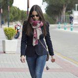 Eva González en el tanatorio de Mario Biondo