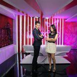 Nando Escribano y Núria Marín, presentadores de 'Cazamariposas'