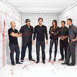 Michael C. Hall y el resto del reparto de la octava temporada de 'Dexter'