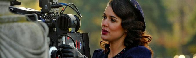 Adriana Ugarte en la grabación de 'El tiempo entre costuras'