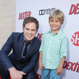 Michael C. Hall y Jadon Wells, en la presentación de la última temporada de 'Dexter'
