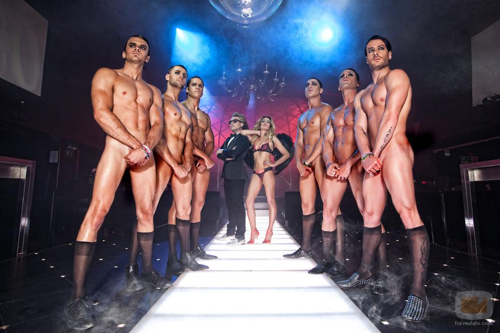 Exconcursantes desnudos de 'Gran hermano' con Belén Rodríguez