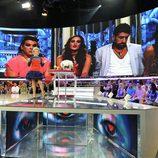 Mercedes Milá con los finalistas de 'Gran Hermano catorce' de fondo