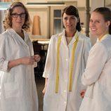 Rita, Ana y Luisa, las costureras de 'Galerías Velvet'