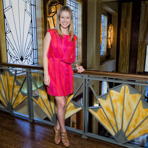Manuela Vellés en la presentación de 'Galerías Velvet'