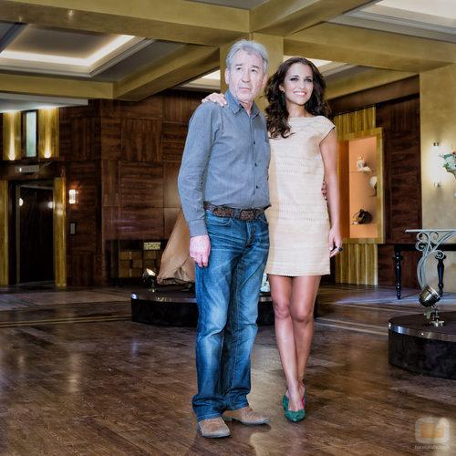 José Sacristán y Paula Echevarría en la presentación de 'Galerías Velvet'