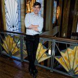 Adrián Lastra posa durante la presentación de 'Galerías Velvet'