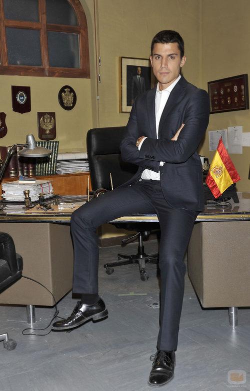 Álex González en la presentación de 'El príncipe' (Telecinco)