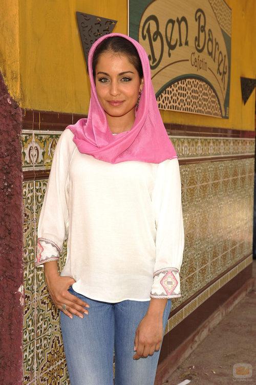 Hiba Abouk en la presentación de 'El príncipe'