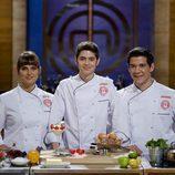 Eva, Fabián y Juan Manuel, finalistas de 'MasterChef'