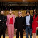 Ferran Adrià, con el jurado y la presentadora de 'MasterChef'