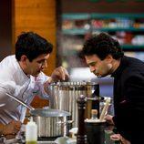 Juan Manuel y Pepe Rodríguez Rey en la final de 'MasterChef'