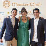 Los tres finalistas de 'MasterChef' en la sala Kinépolis de Madrid