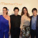 Eva González y el jurado de 'MasterChef' en la sala Kinépolis de Madrid