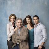 Bobby Ewing posa junto a su familia en 'Dallas'