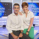 Marta Solano y Albert Barniol en la presentación de 'España directo'